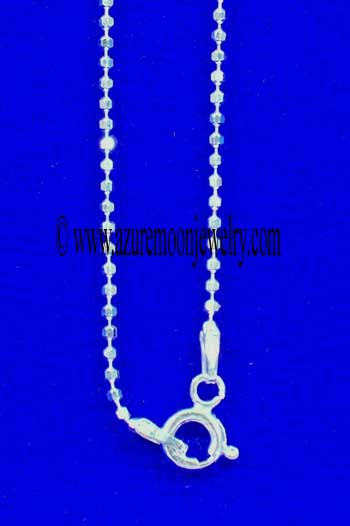 16 Inch Sterling Silver Diamond Cut Bead Chain