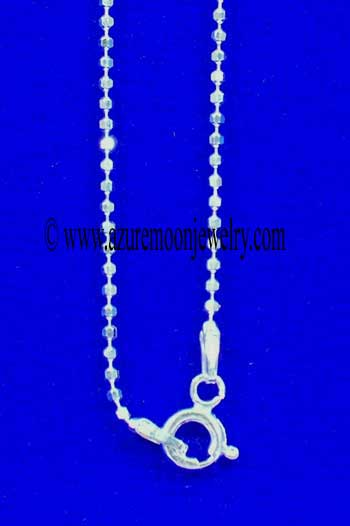 18 Inch Sterling Silver Diamond Cut Bead Chain