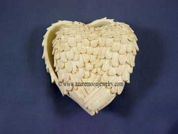 Heart Shaped Angel Wings Trinket Box