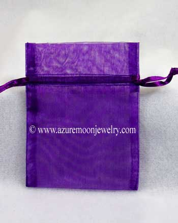 Organza Bag - Dark Purple