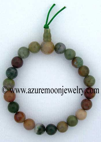 Gemstone Power Bracelet-Fancy Agate