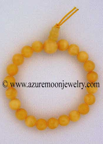 Gemstone Power Bracelet-Honey Jade