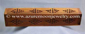 Wooden Box Incense Burner - Natural - Cathedral