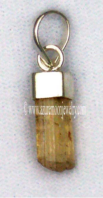 Imperial Topaz Mini - Pendant In Sterling Silver