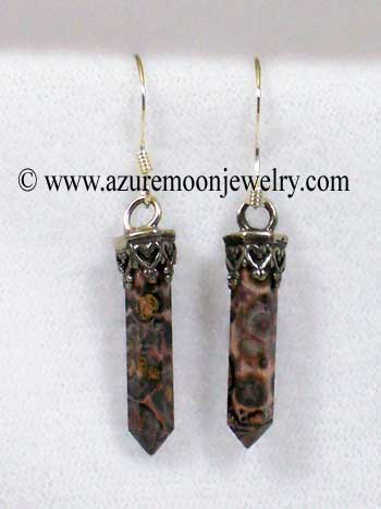 Crazy Lace Agate Mini - Points In Sterling Silver Earrings