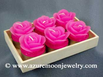 Pink Rose Tea Light Candles