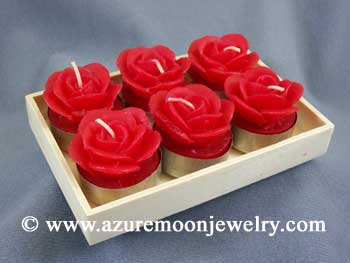 Red Rose Tea Light Candles