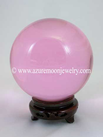 110mm Pink Quartz Crystal Ball