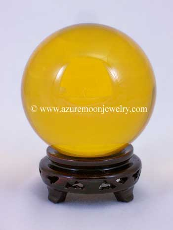 110mm Amber Quartz Crystal Ball