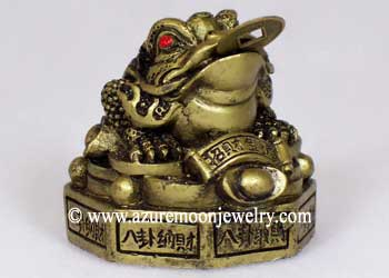 Gold Resin Chinese Money Frog On Bagua