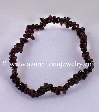 Gemstone Chip Bracelet - Garnet