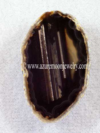 Agate Slice Magnet - Brown & Black
